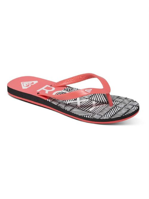 ROXY WOMENS FLIP FLOPS.NEW TAHITI PINK/BLACK BEACH THONGS SANDALS 7S/132/PIB